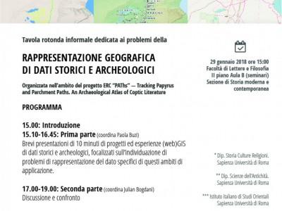 """Round table """"Rappresentazione geografica di dati storici e archeologici"""""""