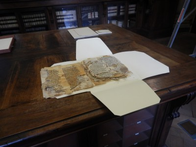 Newly discovered Coptic parchment leaves at the Biblioteca Corsiniana, Rome