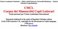 Corpus dei Manoscritti Copti Letterari (Rome-Hamburg)